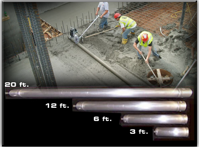 Lighting Screed_Patented Aluminum Threaded Axle System